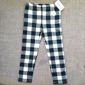 Carter's B&W Checkered Cozy Lined Legging 5